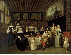 Gillis van Tilborch or Gillis van Tilborgh — Portrait of a Family in an Interior with Paintings 17th Century Fashion, 17th Century Art, Renaissance Portraits, Dutch East Indies, Dutch Golden Age, Baroque Art, Dutch Painters, Dutch Artists, Old Paintings