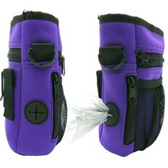 Neoprene Dog Training Pouch Multi Purpose Adjustable Over the Shoulder Strap or Waist Belt (Purple)