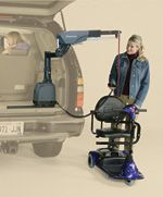 VSL-6900 Curb-Sider:  Fully Powered - Makes lifting and storing your scooter or powerchair inside your vehicle virtually effortless (400 lbs/181 kg lifting capacity)