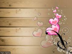 Textura de madera con corazones