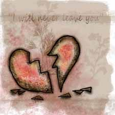 I will never leave you Peace Love And Understanding, Shattered Heart, Mending A Broken Heart, Broken Promises, Never Leave You, Know Who You Are, Graphic Illustration, Peace And Love, Broken Hearted