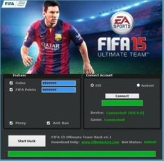 FiFa 15 Ultimate Team Hack Tool 2018 Download. FiFa 15 Ultimate Team Hack Tool : Fifa 15 is a notable word for the football sweethearts. We are here to make this word more energetic in the field of android and IOS. Yes you are considering it right we have something uncommon for your fifa 15 amusement. The fifa 15 extreme group hack instrument no review, which is.