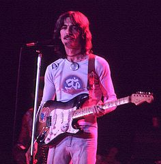 November 28,1974 George Harrison plays a show at The Omni in Atlanta during his 1974 Dark Horse North American Tour.