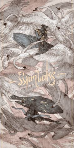 Swan Lake by Rovina Cai On sale Friday 10 February at 5pm UK time 18″ x 36″ 7-colour screen print 270gsm Cougar Natural paper Hand numbered from an...