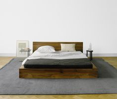Love the low to the floor bed with no boxspring.