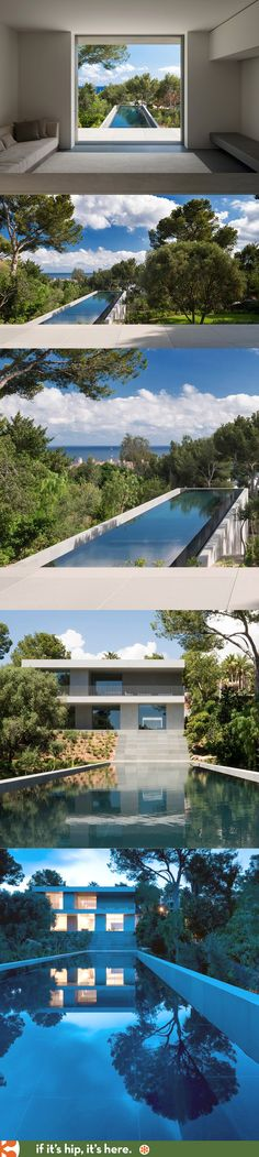 The stunning pool at the Picornell House in Spain. More of the home at the link.