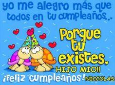 Feliz cumple hijo Birthday Surprise Kids, Birthday Presents For Him, Best Birthday Wishes, Birthday Diy, Boy Birthday Parties, Birthday Quotes, Birthday Greetings, Birthday Cards, Happy Birthday