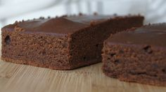 Quick and easy chocolate cake slice
