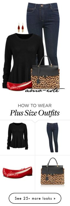 """Black Sweater - Plus Size"" by amo-iste on Polyvore featuring moda, M&Co, Lanvin, The Sak y Repetto"