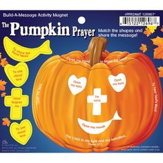 #Christian Bible Craft Ideas for #Sunday School Kids  make pumpkin and cutouts with magnets match up the shape with the holes in the #pumpkin