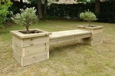 Our bench and planter set features 2 large planters combined with a bench providing rustic seating for outside areas to seat 4 children.