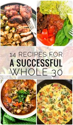 14 Recipes for a Successful Whole 30 - Start the year off right with a clean eating meal plan that is Whole 30 Approved! Getting ready to start the Whole Check out these 14 Recipes for a Successful Whole 30 including sheet pan dinners, soups and more! Clean Eating Meal Plan, Clean Eating Recipes, Clean Eating Snacks, Healthy Eating, Healthy Food, Clean Eating Challenge, Eating Fast, Healthy Chicken, Eating Habits