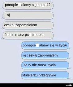 Funny Sms, Wtf Funny, Polish Memes, Haha, Jokes, Humor, Funny Text Messages, Husky Jokes, Ha Ha