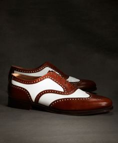 Gatsby for guys. The Great Gatsby Collection White and Brown Spectator Wingtip - Brooks Brothers The Great Gatsby, Great Gatsby Mens Fashion, Me Too Shoes, Men's Shoes, Dress Shoes, Footwear Shoes, Brooks Brothers, Brothers Clothing, Gatsby Costume