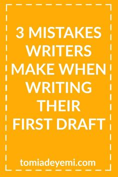 There are 3 mistakes writers often make that keep them from finishing their book. These mistakes can stall your #writing career, so make sure you're not making them!