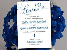 Catholic Wedding Program Template - Printable Fold Over Ceremony Program…