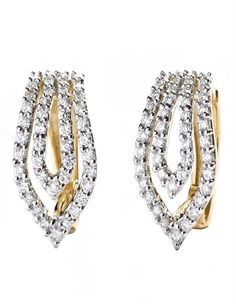 Daily Wear Diamond Earring are a perfect design for a working women for daily office use. #diamonds #earrings #officewear
