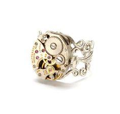Steampunk Ring Steampunk Jewelry Vintage by VictorianCuriosities, $35.00