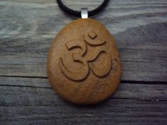 Om Pendant. Om necklace. Tibetan Sanskrit OM by SeaStoneFrog