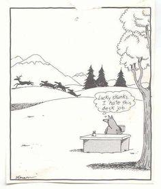 """The Far Side"" by Gary Larson. Cartoon Jokes, Cartoon Pics, Funny Cartoons, Funny Comics, Gary Larson Comics, Gary Larson Cartoons, Far Side Cartoons, Far Side Comics, Gary Larson Far Side"