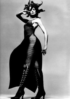 Gianni Versace's fall/winter 1993. Stephanie Seymour by Avedon.