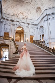Pink Wedding Dress Vera Wang. San Francisco - Deann B Photography