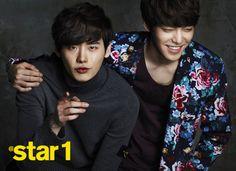 Lee Jong Suk and Kim Woo Bin At Star 1 March 2013 Look 2