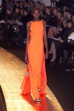 Valentino Spring 2001 Haute Couture, Alek Wek