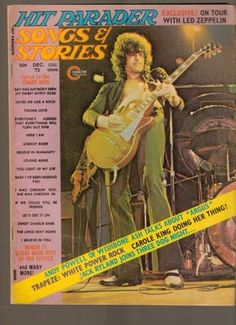 Hit Parader Magazine December 1973 Songs Stories On Tour with Led Zeppelin  www.advintageplus.com