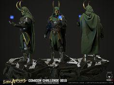 http://www.gameartisans.org/forums/threads/63785-Comicon-15-3D-Doctor-Doom-Loki