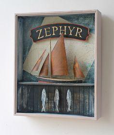 Zephyr - a mixed media box construction by Alex Malcolmson