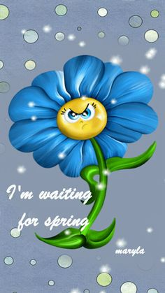 I'm waiting for spring - GIF Spring Pictures, Pretty Pictures, Smileys, Gif Animé, Animated Gif, Hello March, Glitter Gif, Random Gif, Weather Seasons