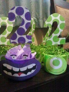 Monster University party centerpieces.
