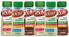 Boost High Protein Drinks 8 fl oz 6 Count Variety Pack Strawberry Chocolate Vanilla Flavors Suitable for Celiac Disease and Lactose Intolerance with Electrolytes Calcium Vitamin D Antioxidants >>> See this great product.