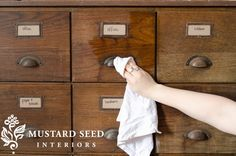 Greta tip: Use all-natural Hemp Oil to revive old & dry wood.
