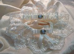 The Charlotte Cream Garter Set by Garnize on Etsy, $80.00. Free Shipping. Wedding Garters of distinction.
