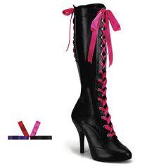 TEMPT-125, Ribbon Lace Up Knee Boot W/Concealed PF(Blk Pu,11) Pleaser,http://www.amazon.com/dp/B002J7KVQU/ref=cm_sw_r_pi_dp_KNqLsb17GT3BQ1FM