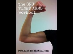 Toned Arms Workout with @GNC via @blondeponytail 5 dynamic moves, 10 reps. 3 rounds. No equipment.
