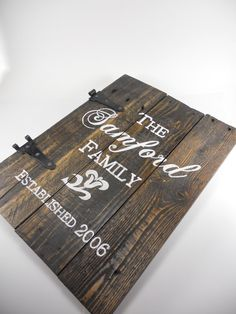 Established date sign Personalized name sign by mjcritterandcraft, $80.00