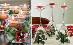 DIY Christmas Snowman Wine Glass Candle Holders - Find Fun Art Projects to Do at Home and Arts and Crafts Ideas Homemade Christmas Table Decorations, Christmas Table Centerpieces, Christmas Table Settings, Christmas Wine, Christmas Candles, Handmade Christmas, Christmas Tabletop, Cheap Christmas, Christmas Snowman