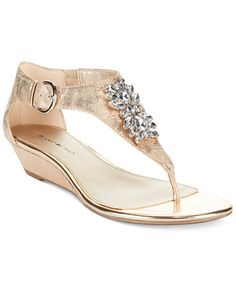 Bandolino Platana Jeweled Wedge Thong Sandals if youre tall