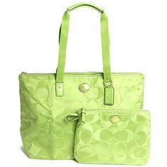 COACH coach signature nylon a pocketable Weekender folding tote bag F77321 B4/LE leaf 05P28oct13