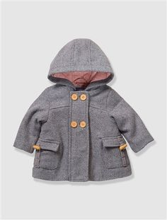 Baby Girl's Hooded Wool Mix Coat. In Sale on Vertbaudet but what age to buy?