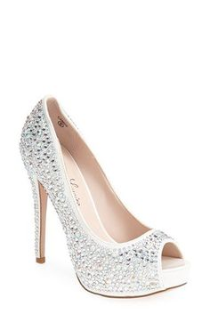 Lauren Lorraine 'Candy' Crystal Peep Toe Pump (Women) | Nordstrom