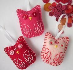 The Sunny Sunflower House: Owl ornaments