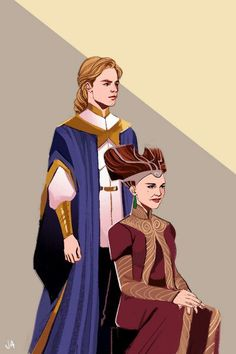 Luke and padme Ву Lazy-Afternooner