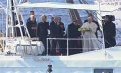 Pope arrives in Lampedusa