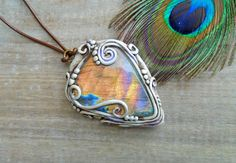Magic Labradorite Necklace. Clay OOAK by EnchantedEvolution11