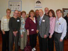 Legacy Reunion Event, April 27, 2013: Cheryl Gooding Gumbis '65, Bill Musick '66, Randy Upton '66, Pam Legowsky Zimmer '66, Jayne Marts Schmelzer Chrzan '68, D'Arcy Gonzales '68, Coach Tuomi (faculty), Holger Stier '66, Chris Bohn Verbal '68, Paul Loeber '66