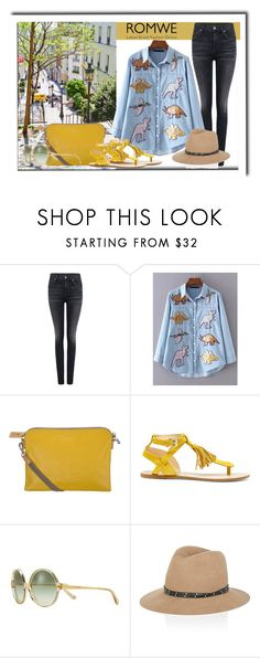 """""""ROMWE"""" by tattooedmum ❤ liked on Polyvore featuring Citizens of Humanity, WithChic, Orla Kiely, Sole Society, Tory Burch and rag & bone"""